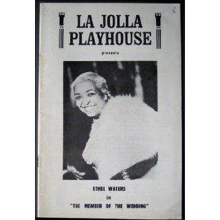 La Jolla Playhouse 1964 Program Ethel Waters Actress on Cover: La Jolla Playhouse: Books