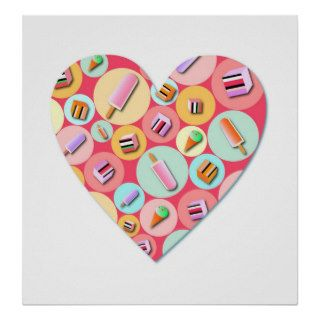 Sweet Candy Love Heart Poster