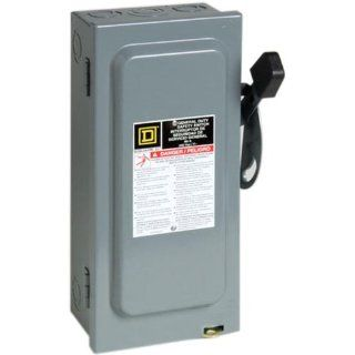 Square D by Schneider Electric D322N 60 Amp 240 Volt Three Pole Indoor General Duty Fusible Safety Switch with Neutral   Circuit Breakers