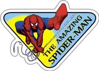 Licenses Products Spider Man Spidy Sign Sticker Toys & Games