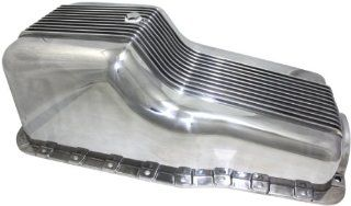 Mota Performance A70899 Aluminum Engine Oil Pan Finned 5 Quart Capacity Automotive