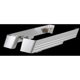 CycleSmiths CS202 Chrome No Cut Outs Saddlebag Extensions for Harley Davidson FL Model (3501 0698) Automotive