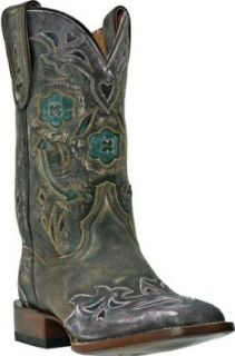 Dan Post Women's Floral And Arrow Inlay Wingtip Cowgirl Boot Square Toe Pink 8 M US: Shoes