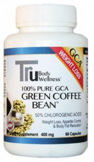 Green Coffee Bean Extract 400 with GCA Natural Weight Loss Supplement, 60 Count Veg. Capsules Health & Personal Care
