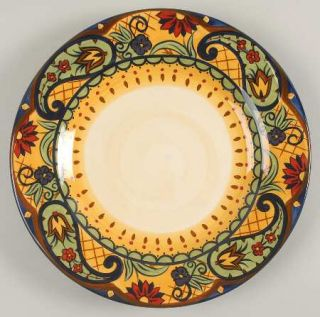 Corsica Home Crown Jewel Dinner Plate, Fine China Dinnerware   Floral,Paisley,Ye