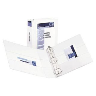 Avery Durable View Binder with Two Booster EZD Rings, 2 Capacity   White