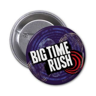 Big Time Rush Logo   Purple Pinback Buttons
