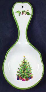 Christopher Radko Holiday Celebrations (Green Trim) Spoon Rest/Holder (Holds 1 S