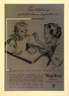 1936 Vintage Ad Wearever Aluminum Cookware Baby Mother   Original Print Ad