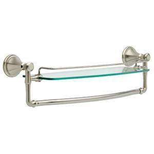 Delta Cassidy 30 in. W Glass Shelf in Stainless Steel 79710 SS