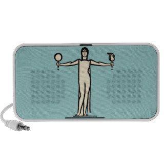 Art Deco Woman Bold Graphic Design Model Pose iPod Speakers