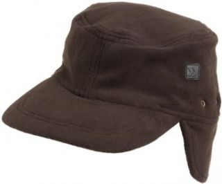 Isotoner Men's Isotoner Stretch Fleece Radar Hat,Black,One Size: Clothing