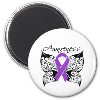 Tattoo Butterfly Awareness   Pancreatic Cancer Magnet