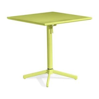 ZUO Big Wave Lime Patio Folding Square Table 703042