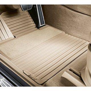 BMW 51 47 0 432 793 M Models X6 SAV Rubber Floor Mats with Carpeted Heels   Rear   Black (Set of 2) Automotive