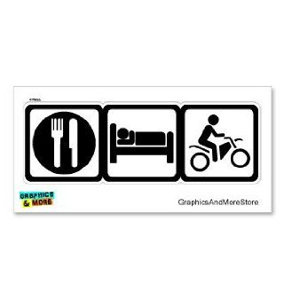 Eat Sleep Dirt Pit Bike Off Road Sign Symbols   Window Bumper Locker Sticker: Automotive