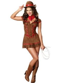 Sexy Cowgirl Costume Dress Western Country Rider Womens Theatrical Costume Adult Sized Costumes Clothing
