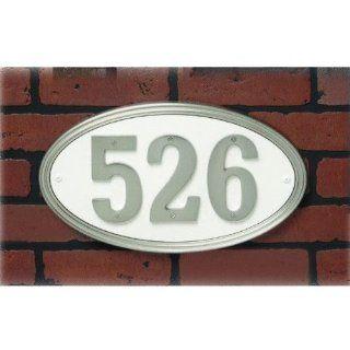 Hy Ko #AK 451 SLV Oval Address Plaque