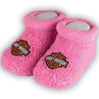 Harley Davidson Girls Baby Booties Boxed Pink Clothing