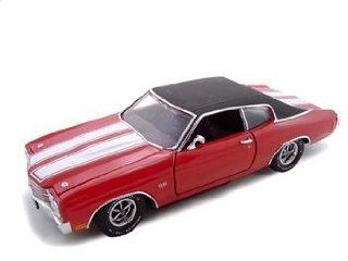 1970 CHEVROLET CHEVELLE SS 454 DIECAST MODEL RED 124 SCALE Toys & Games