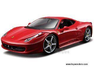 39113r Maisto   Model Kit Ferrari 458 Italia Hard Top (124, Red) 39113 Diecast Car Model Auto Vehicle Automobile Metal Iron Toy Toys & Games