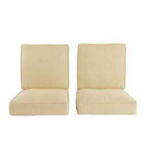 Hampton Bay Ridgefield Replacement Outdoor Lounge Chair Cushion (2 Pack) HD14104
