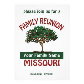 Missouri Family Reunion Apple Tree Invite