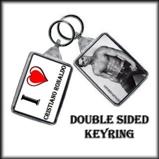 I HEART CRISTIANO RONALDO KEYCHAIN   I LOVE CRISTIANO RONALDO KEYRING   Key Tags And Chains