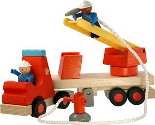 WoodyClick Construction System, Fire Ladder Truck Toys & Games