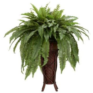 Nearly Natural 38.0 in. H Green Boston Fern with Stand Silk Plant 6627