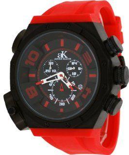Adee Kaye #AK7777 MIPB Men's Oversized Black IP Titanium Double Time Zone Chronograph Watch Watches