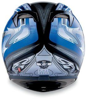 AGV T 2 Graphics Helmet , Size: 3XL, Primary Color: Blue, Distinct Name: Black/Blue, Helmet Type: Full face Helmets, Helmet Category: Street, Gender: Mens/Unisex 0351O2A0006012: Automotive