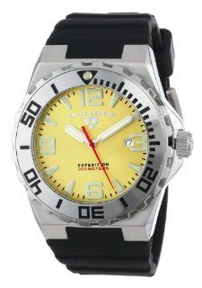 "Swiss Legend Men's 10008 07SET ""Expedition"" Stainless Steel, Black Silicone, and Yellow Dial Watch Set Watches"