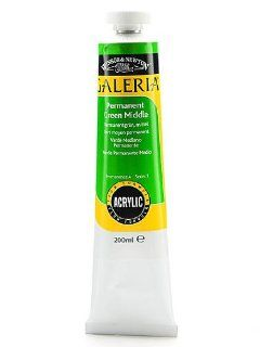 Winsor & Newton Galeria Flow Formula Acrylic Colours permanent green middle 200 ml 484 [PACK OF 2 ]