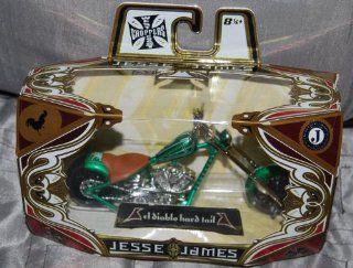 Jesse James West Coast Choppers el Diablo Hard Tail Green Toys & Games