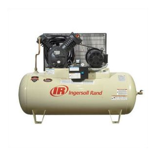 Ingersoll Rand 120 Gallon 175 PSI, 35 CFM, 10.0 HP Fully Packaged Type 30 Electric Two Stage Horizontal Air Compressor Tools