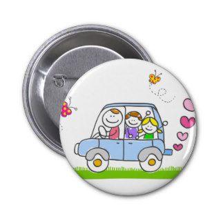 happy family cartoon pin