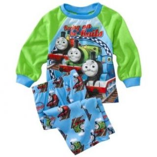 Thomas the Train Toddler Boys 2pc Pajamas Racing On The Rails (4T) Clothing