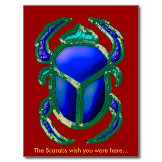EGYPTIAN SCARAB BEETLE Collection Post Cards