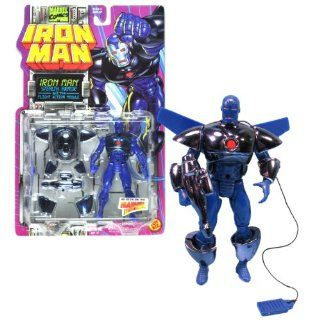 Toy Biz Year 1995 Marvel Comics IRON MAN Series 5 Inch Tall Action Figure   STEALTH ARMOR IRON MAN with Flight Action Module and Photon Blaster Electronics