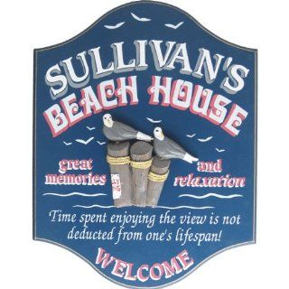 Personalized Beach House Welcome Sign  Yard Signs