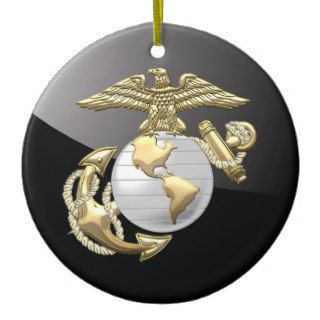 USMC Eagle, Globe & Anchor (EGA) [3D] Christmas Ornaments