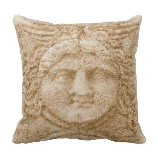 Greek God Hermes PICTURE ancient image of Hermes Throw Pillow