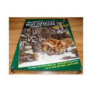 "WORLD'S MOST DIFFICULT JIGSAW PUZZLE   WHEREWOLVES (The original double sided jigsaw puzzle with the same artwork on both sides, Buffalo Games, Finished size 15"" by 15"", 529 super thick pieces, were wolf, werewolf) Don Scott Books"