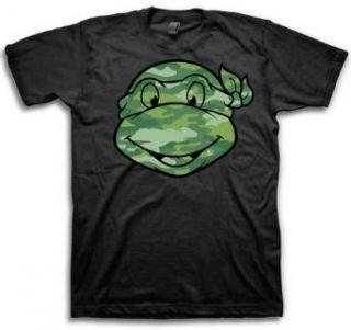 Teenage Mutant Ninja Turtles TMNT Camo Face Cartoon Adult T Shirt Tee Clothing