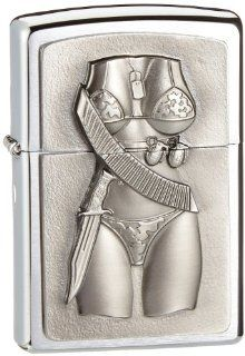 #200 Sexy Military Girl Emblem   Cigarette Lighters