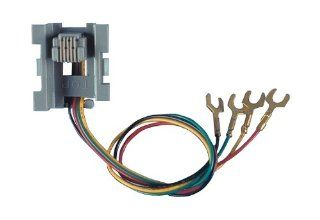 Allen Tel AT523A4 4 Wire, 6 Position Line Jack for Base of Wall Telephone Modular Outlet Jack   Wall Plates