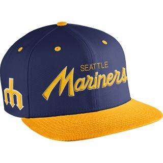 NIKE Mens Seattle Mariners MLB Coop SSC Throwback Adjustable Cap, Royal