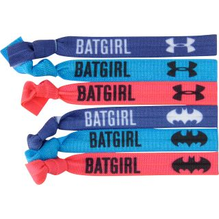 UNDER ARMOUR Girls Batgirl Hair Ties   6 Pack, Caspian/blue