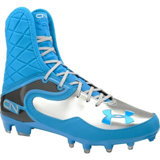 UNDER ARMOUR Mens Cam Highlight MC High Football Cleats   Size: 10, Blue/silver